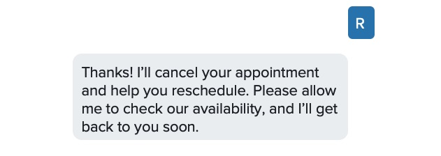 Reducing no-show appointments with automated text messages