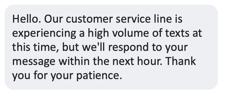 Auto reply customer service