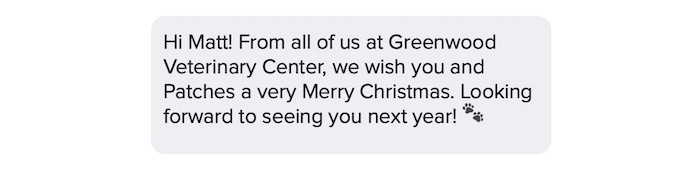 happy holidays text message