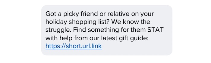 holiday text templates example