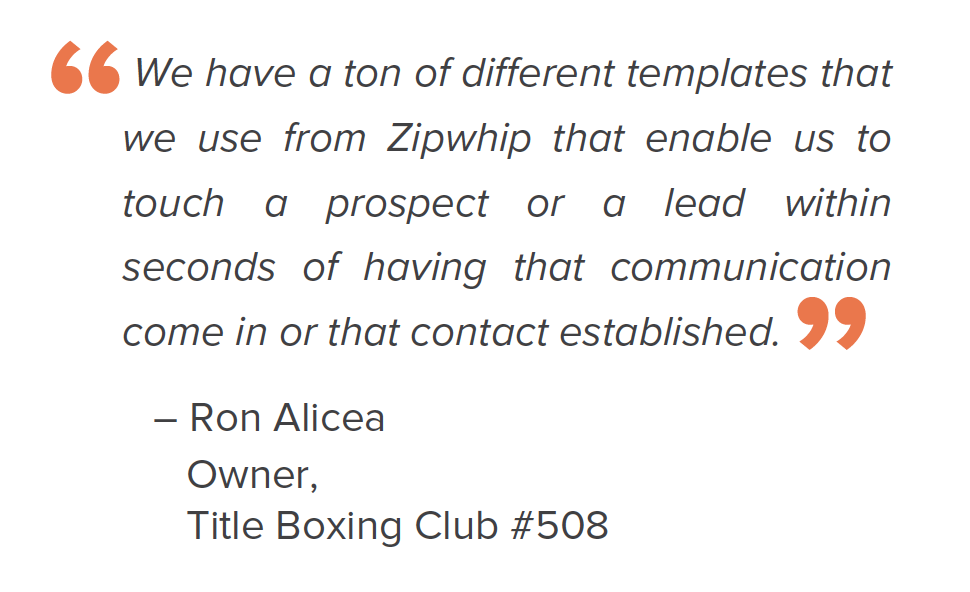Customer quote TITLE Boxing