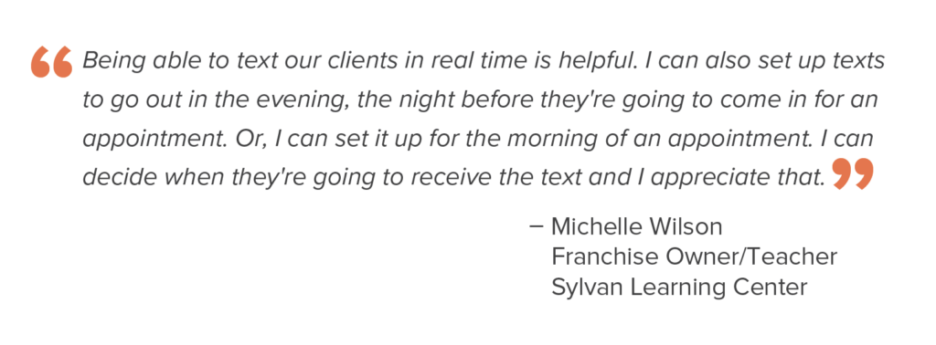 customer quote about texting