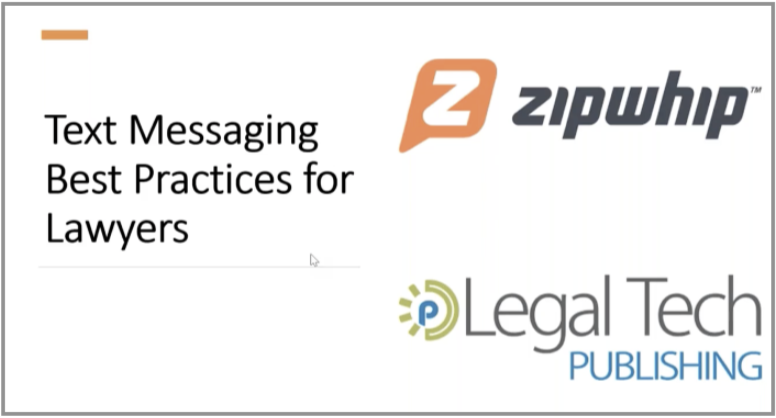 image for webinar about texting for lawyers