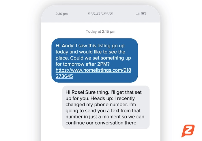 How to notify contacts of new phone number