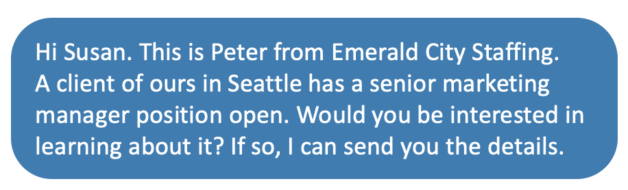 text from recruiter